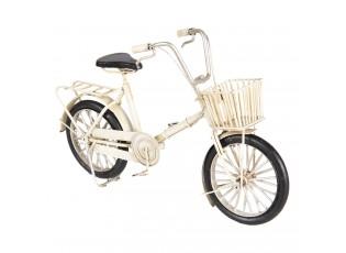 Kovový retro model bílého jízdního kola - 23*6*15 cm
