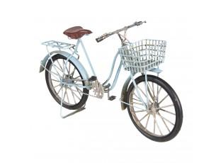 Kovový retro model modrého jízdního kola - 30*10*17 cm