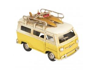 Retro kovový model žlutý autobus - 11*5*7 cm
