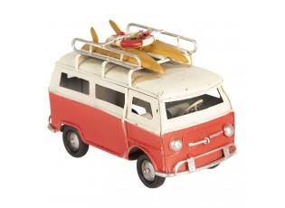 Retro kovový model červený autobus - 11*5*7 cm