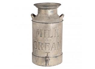 Plechová dekorační konev na mléko - 21*21*38 cm