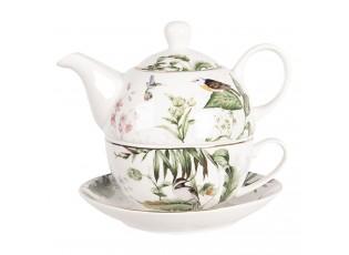 Porcelánový tea for one Tropical birds - 0,46L