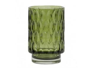 Zelený skleněný svícen Grace - Ø 9*13 cm