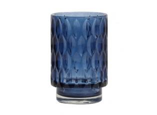 Modrý skleněný svícen Grace - Ø 9*13 cm