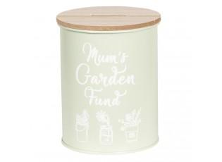 Kovová pokladnička Mum's Garden - Ø 12*14 cm