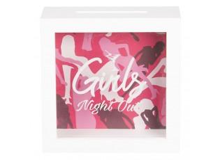 Dřevěná pokladnička Girls Night Out - 15*5*15 cm