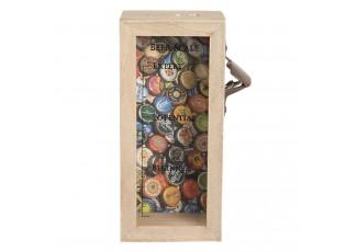 Dřevěná pokladnička s pivní stupnicí - 10*7*22 cm