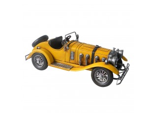 Kovový retro model žlutého auta - 33*13*12 cm