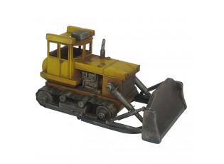 Retro kovový model žlutý buldozer - 33*19*17 cm