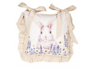 Povlak na polštář na židli  Lavander Fields s králíčkem - 40*40 cm