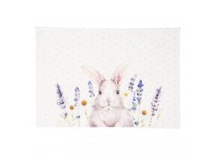 Textilní prostírání Lavander Fields s králíčkem - 48*33 cm - 6ks