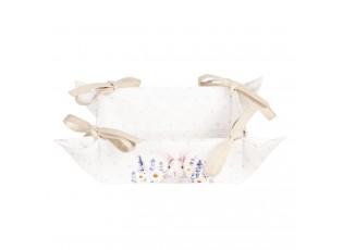 Textilní košík na pečivo Lavander Fields s králíčkem - 35*35*8 cm