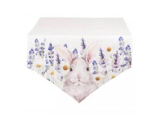 Běhoun na stůl  Lavander Fields s králíčkem - 50*160 cm