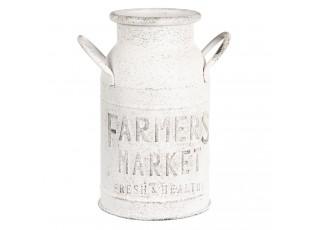 Bílá konev Farmers market - 15*26 cm