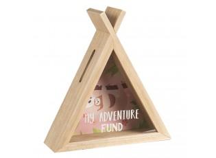 Dřevěná pokladnička My Adventure - 21*7*23 cm