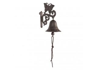 Litinový zvonek s motýlkem - 15*10*14 cm