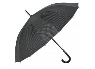Černo béžový deštník s puntíky - Ø 60  cm