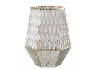 Champagne skleněný svícen na čajovou svíčku - 17*15*22cm