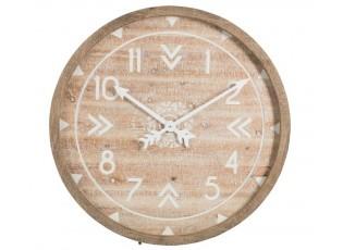 Dřevěné nástěnné hodiny - 83*5*83 cm