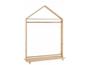 Pojízdný dřevěný stojan na oblečení Pines - 100*35*143 cm