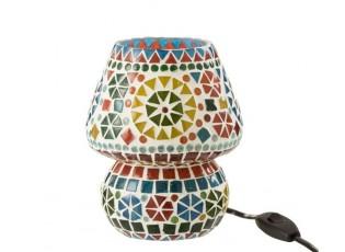 Barevná skleněná stolní lampička Mosaic - Ø14*17cm