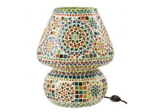 Barevná skleněná stolní lampička Mosaic - Ø26*31cm
