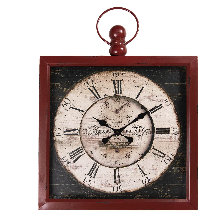 Nástěnné retro kovové hodiny Chateau Laurent - 60*7*79 cm / 1*AA