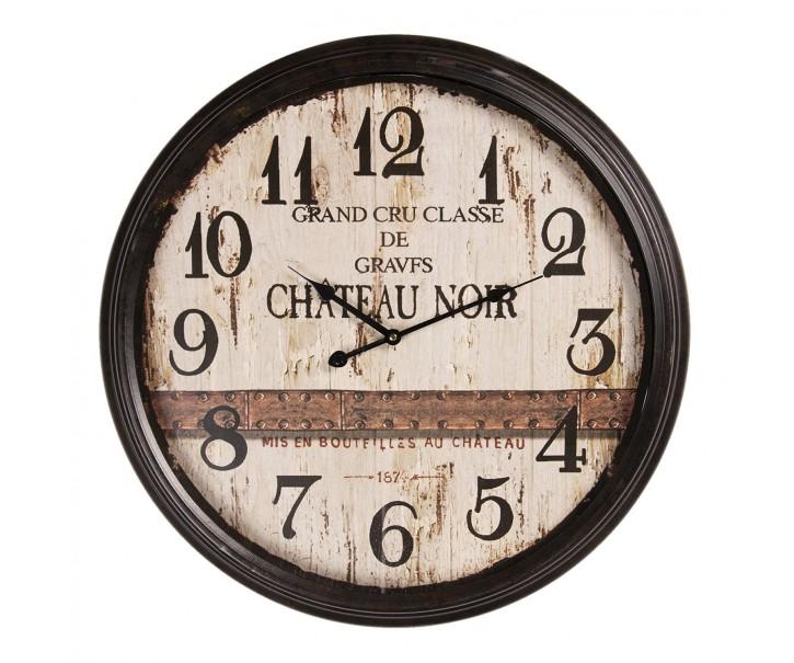 Černé kovové hodiny Chateau Noir - Ø 64*10 cm / 1*AA