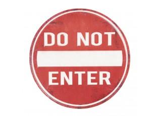 Červená kulatá kovová cedule Do not entry -Ø 35 cm