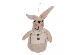Závěsná textilní dekorace králíček - 8*5*12 cm