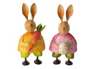 2ks kovový králík - 9*8*17 cm