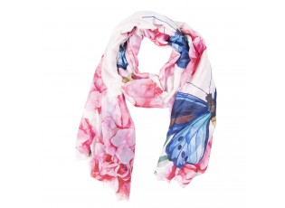Šátek s motýli - 70*180 cm