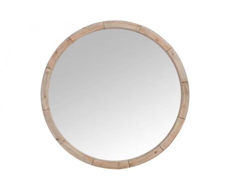 Kulaté dřevěné nástěnné zrcadlo Mind - Ø122*7cm