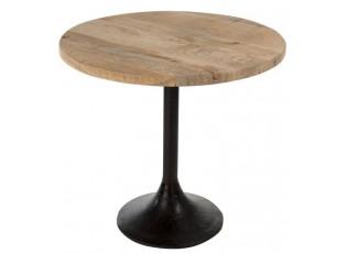 Černý barový stolek Barry - Ø 65*60cm