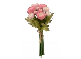 Růžová kytička Kamélie 11ks - 16*14*26cm