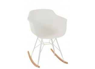 Bílá plastová houpací židle Swing - 69*56*79 cm