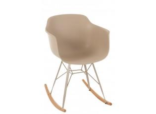Béžová plastová houpací židle Swing - 69*56*79 cm