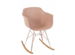 Růžová plastová houpací židle Swing - 69*56*79 cm