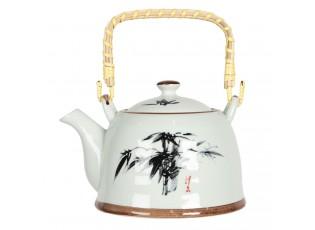 Konvička na čaj s motivem bambusu - 18*14*12 cm / 0,8L
