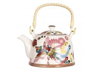Konvice na čaj s motivem ptáka - 18*14*12 cm / 0,8L