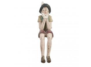 Dekorace sedící Pinocchio  - 4*7*15 cm