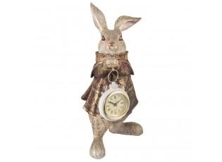 Stolní hodiny Králík- 14*13*25 cm