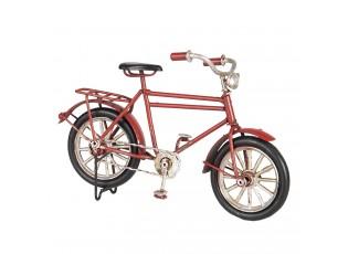 Malý kovový model červeného kola - 16*5*10 cm