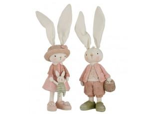 Dekorace králičí chlapec a dívka - 10*31cm