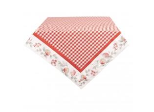 Červeno-bílý kostkovaný ubrus Apple Yard - 150*250 cm