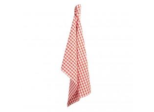 Červeno-bílá kostkovaná bavlněná utěrka Apple Yard - 50*70 cm