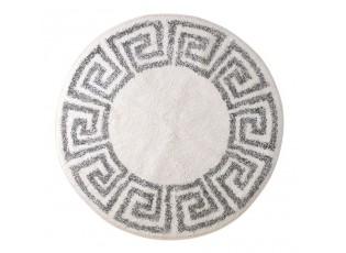 Kulatá bavlněná koupelnová předložka Greek - Ø 80 cm