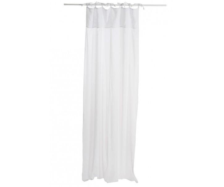Bílý bavlněný voál / záclona na zavazování - 140*290cm