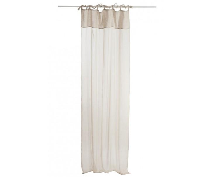 Béžový bavlněný voál / záclona na zavazování - 140*290cm