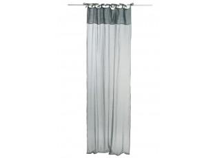 Zelený bavlněný voál / záclona na zavazování - 140*290cm